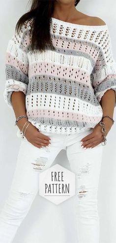 Crochet Blouse Free Pattern - Knitting Bordado - Tricot et crochet - Cardigan Au Crochet, Gilet Crochet, Crochet Shirt, Crochet Jacket, Crochet Sweaters, Knit Poncho, Cardigan Sweaters, Chrochet, Pull Crochet