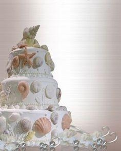 Beautiful!   Beach Wedding Cakes