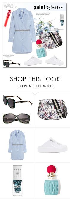 """""""Get the look"""" by vkmd ❤ liked on Polyvore featuring Fendi, Topshop Unique, Kenzo, Miu Miu, Lime Crime and paintsplatter"""
