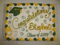 Graduation two tone sheet cake