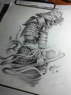samurai and dragon tattoo Samurai Maske Tattoo, Samurai Tattoo Sleeve, Samurai Warrior Tattoo, Warrior Tattoos, Samurai Drawing, Samurai Artwork, Hannya Tattoo, Mask Tattoo, Demon Tattoo