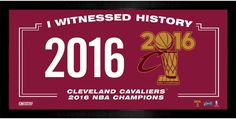2016 NBA Champion Cleveland Cavaliers I witnessed History 10x20 Framed Collage (Champs Logo)