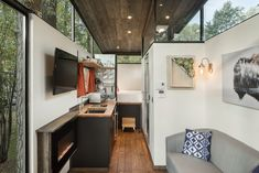 Roadhaus – Tiny House Swoon I really like the high windows on this one. Lots of light and better privacy without compromising limited wall space for windows.
