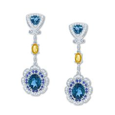 LALI Jewels londonbluetopaz #earrings with a darker, deeper and more saturated blue color than traditional (Swiss) #bluetopaz and usually regarded as the most valuable #springbling