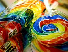 Sarah Graham realism painter I'm in awe of.  Sweet Dreams, Lollipop Carousel, Quack, but Rainbow Swirl is my absolute favorite. What joy!