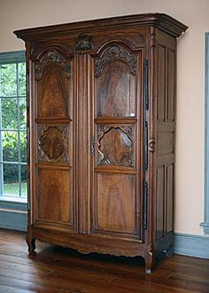 18th Century French Antique Lyonnais Regence Period Walnut Armoire
