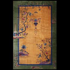 Stock Id: #40-2737General Rug Type:    Chinese Specific Rug Type:    Chinese - Art Deco Circa: 1920 Color: Yellow Origin: China Width: 12' 0'' ( 365.8 cm ) Length: 19' 4'' ( 589.3 cm )