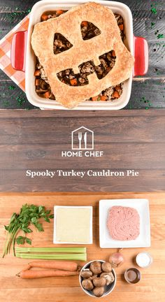Whether you're walking the neighborhood collecting candy or answering the door for eager trick-or-treaters, you'll need fuel to provide the stamina you need to get through the night. Look no further than this spooky take on a turkey pot pie. No toil or trouble here with this cauldron bubbling over with healthy ground turkey and fresh veggies like carrots, shallot, and cremini mushrooms. Topped off with a flaky puff pastry crust (decorated however you want!), this meal is so satisfying you…