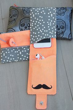 Trousse-i-pod-couture-canvas  #ipodcase #canvas #kesiart