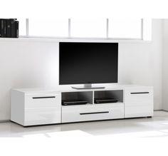 meuble tv design cavalli blanc laqué 175 cm | meubles | pinterest ... - Meuble Tele Design Laque Blanc