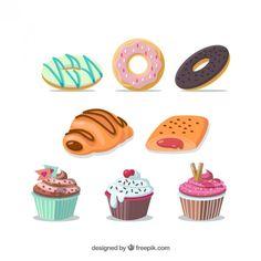 Variedade de doces ilustração