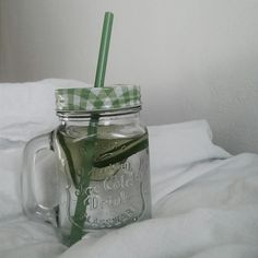 Detox water with a few slices of cucumber.  . . follow me on instagram @terezawho
