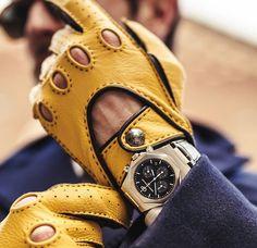 men's accessories alpha m Mens Fashion Blog, Best Mens Fashion, Mens Fashion Suits, Mens Gloves, Leather Gloves, Leather Men, Stylish Watches, Watches For Men, Leather Accessories