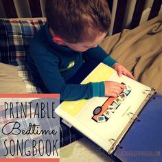 This songbook is a great way of bringing a visual element to some old favorite tunes.  These printable activities for kids aren't only for bedtime – they will love arranging and rearranging the pictures as they sing no matter what time of day it is!  #freeprintable #songbook #bedtimesongs #picturebook