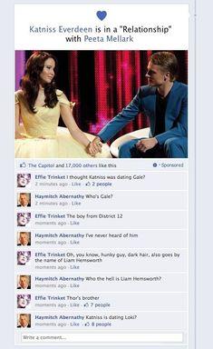 Lol haha funny pics / pictures / Hunger Games Humor / Peeta / Katniss