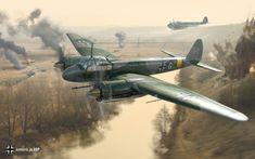 Junkers Ju-88P el combate sobre algún lugar del frente ruso. Más en www.elgrancapitan.org/foro/