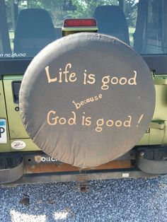 If I still had my Jeep, this would totally be my tire cover!