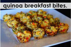 quinoa breakfast bites. #recipe LOVE QUINOA
