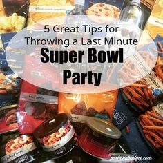 5 Great Tips for Throwing a Last Minute #SuperBowlXLIX Party #CVSGameTime, #GoldEmblem