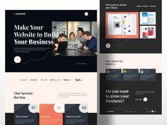 Page Setup, Modern Web Design, Website Design Inspiration, Create Website, Social Media Design, Entrepreneur, Presentation, Templates, Make It Yourself