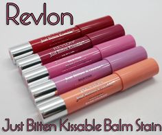 Revlon Just Bitten Kissable...I have it in Cherish and love how it lasts all day.