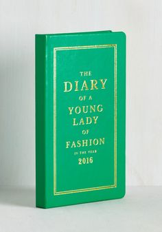 On a Bright Schedule 2016 Planner. For the on-the-go gal, this leatherette planner from kate spade new york is one marvelous must-have! #green #modcloth