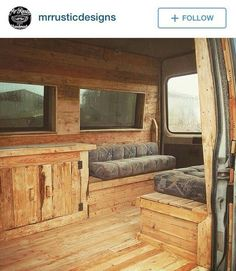 All-wood interior for campers and #vanlife