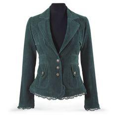 Spruce Corduroy Jacket - Women's Clothing & Symbolic Jewelry – Sexy, Fantasy, Romantic Fashions