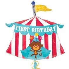 Ver detalles de Globo circo feliz cumpleaños