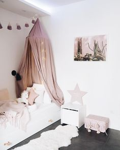 Baby Bed Canopy, Baby Girl Bedding, Ikea Bedroom, Girls Bedroom, Bed Ikea, Love Home, Home And Living, Baby Room, Kids Room