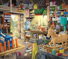 Pap Pap's Tool Shed Crafts & Textile Arts Jigsaw Puzzle