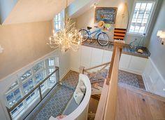 "2015 Mpls.St.Paul Magazine ASID MN Showcase Home - ""Stairway Runner"" (Runner rug is from Tapis Decor.)"