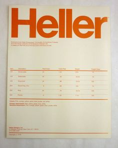 Product information sheet for Heller Dinnerware, 8 x Box Massimo and Lella Vignelli papers, Vignelli Center for Design Studies, Rochester, New York Print Layout, Layout Design, Print Design, Design Design, Vintage Typography, Graphic Design Typography, Vintage Logos, Invoice Layout, Massimo Vignelli