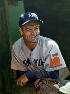 The mighty NY Yankee Lou Gehrig -- by artist Graig Kreindler