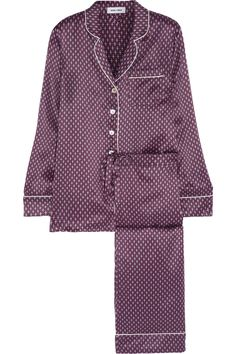 OLIVIA VON HALLE Lila Mira printed silk-satin pajama set $495 EDITORS' NOTES & DETAILS Olivia von Halle takes inspiration from 1920s loungewear. This printed 'Lila Mira' pajama set feels so luxurious - ...
