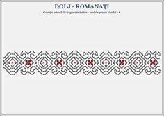 Semne Cusute Folk Embroidery, Embroidery Patterns, Bargello, Hama Beads, Textile Art, Blackwork, Beading Patterns, Pixel Art, Cross Stitch
