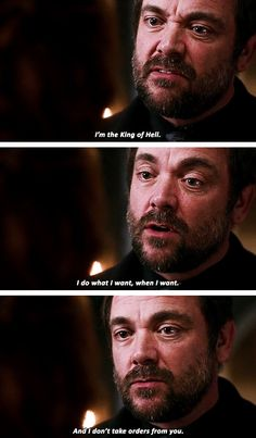 Inside Man [gifset] Crowley finally telling Rowena off Crowley Supernatural, Supernatural Seasons, Mark Sheppard, Winchester Boys, Winchester Brothers, Paranormal, Sam E Dean, Bobby, Super Natural