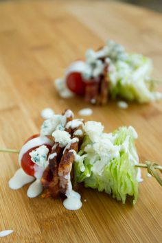 Wedge Salad on a Stick Quick Appetizers for Easy Entertaining Throwing a party just got a lot easier with these quick and delicious appetizers From Honey Lime Baked Wing. Quick Appetizers, Easy Appetizer Recipes, Appetizers For Party, Delicious Appetizers, Skewer Appetizers, Appetizer Ideas, Canapes, Easy Desserts, Finger Food Appetizers