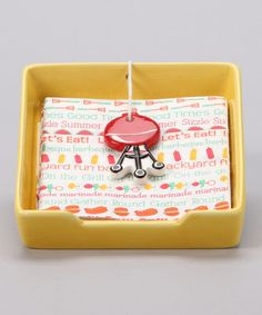 Take a look at this Yellow Ceramic Napkin Holder by Block Party by Dennis East on #zulily today!