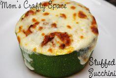 Take your typical spaghetti sauce recipe and bake it up in a zucchini bowl.