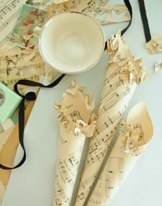 DIY Paper Wedding Cones