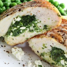 Spinach & Feta Stuffed Chicken Breast Recipe Recipe from Grandmother's Kitchen