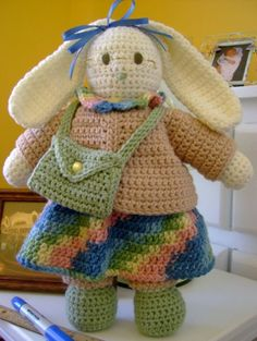 crochet bunny via 24 Free #Crochet Patterns and Other Awesome Things in Crochet (a #NatCroMo Update)