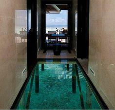 Glass floor over the sand