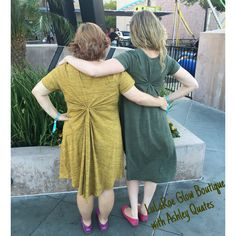 The new LuLaRoe Carly Dress styled with a twist on the back!
