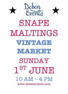 It's the #Vintage Market at Snape Maltings in #Suffolk. When? Sunday 1st June from 10am to 4pm. A packed out selection of cool finds for the home served up by teh region's leading vintage traders and local makers. Get there, get in!