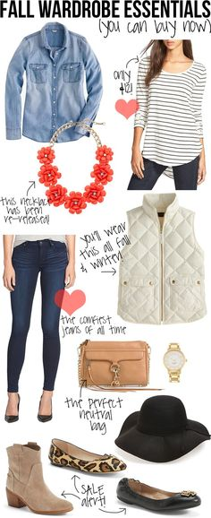 Fall Wardrobe Essentials (You Can Buy Now)