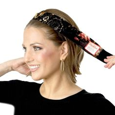 Non-Slip No Slip Wig Grip Black Headband Head band Cream Off
