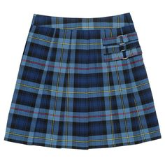 Girls 4-20 & Plus Size French Toast School Uniform Pleated Plaid Skort, Size: 20 Plus, Blue Other