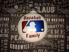 Custom mlb baseball glass ornament Choose personalization Convo for questions